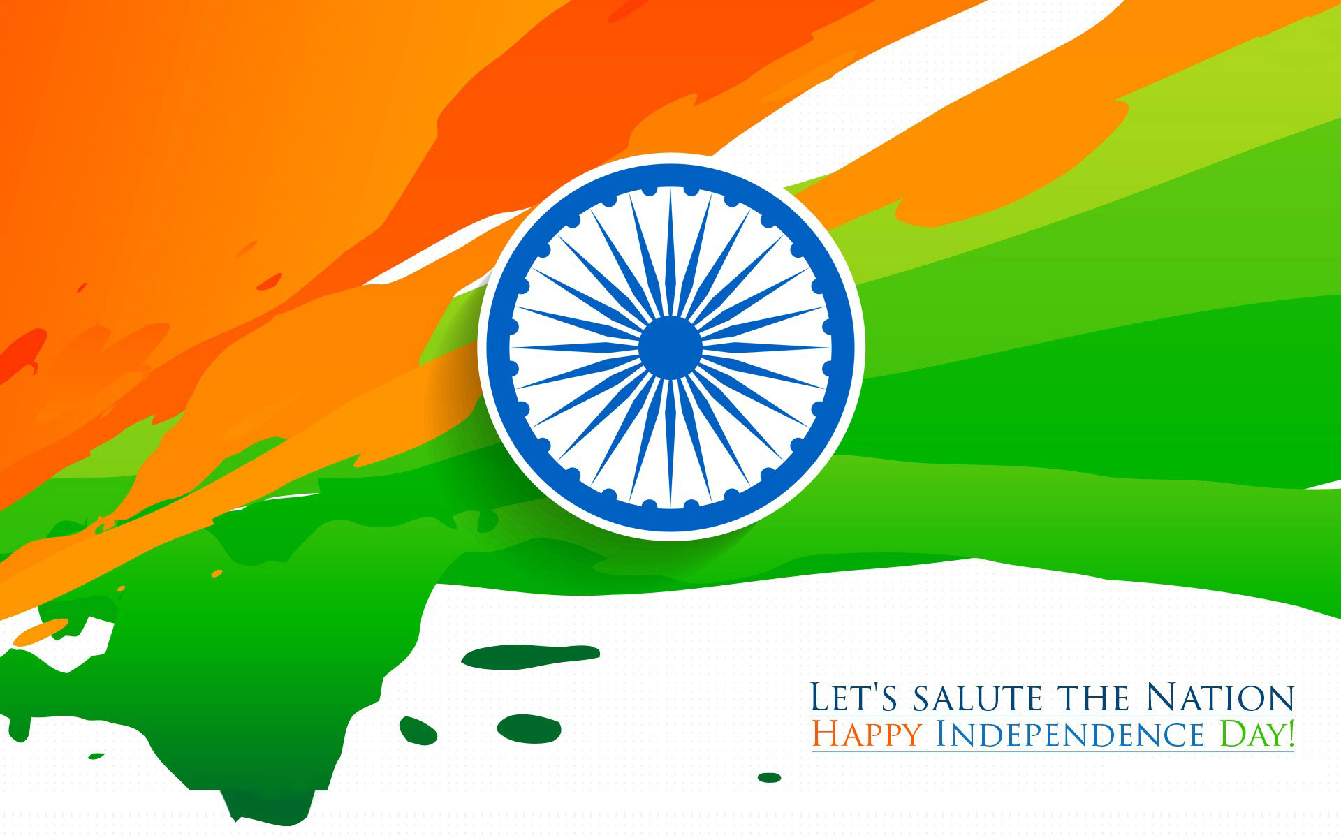 Happy Independence Day Indian Flag Tricolor HD Wallpaper