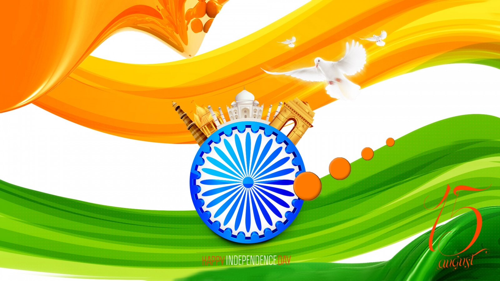 Indian Flag Independence Day Vande Mataram