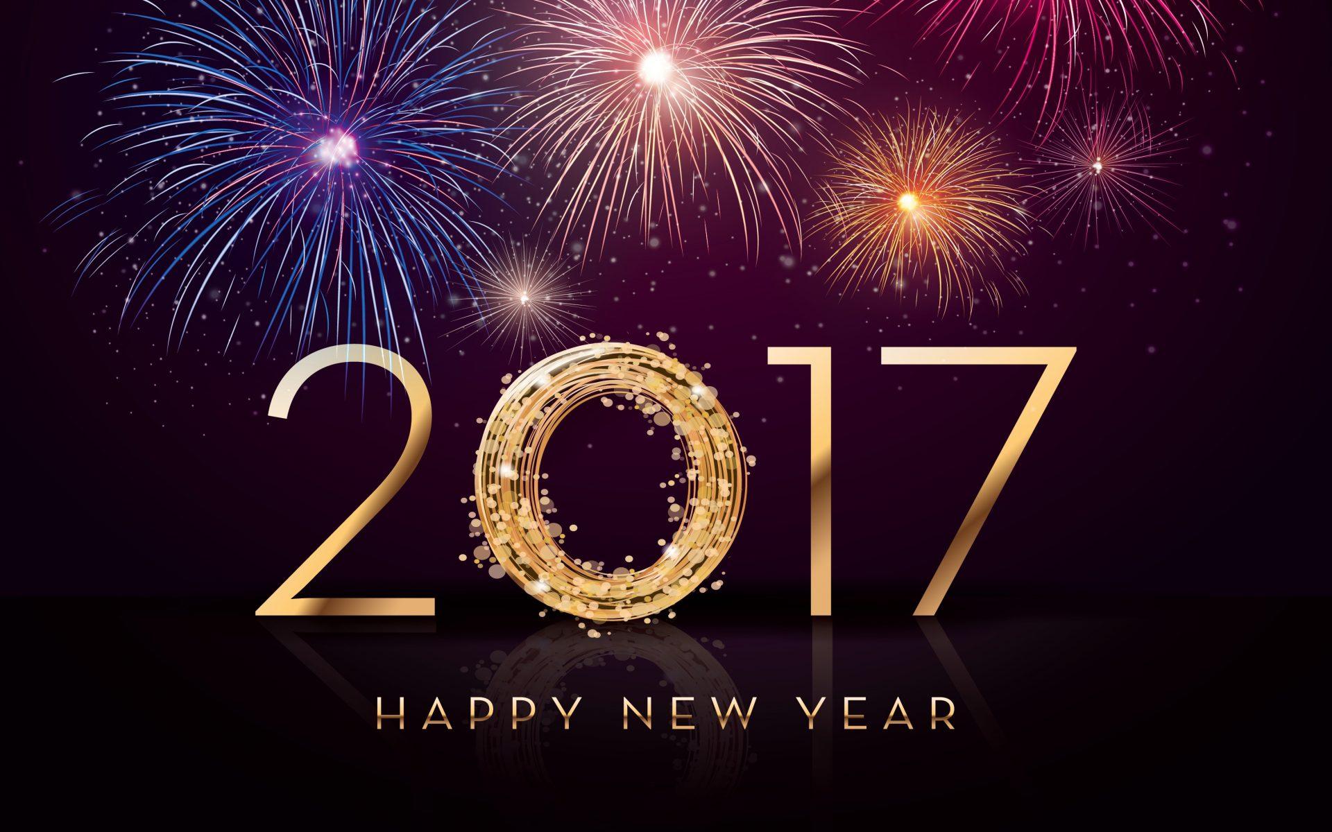 New Year 2017 Greetings Wallpaper