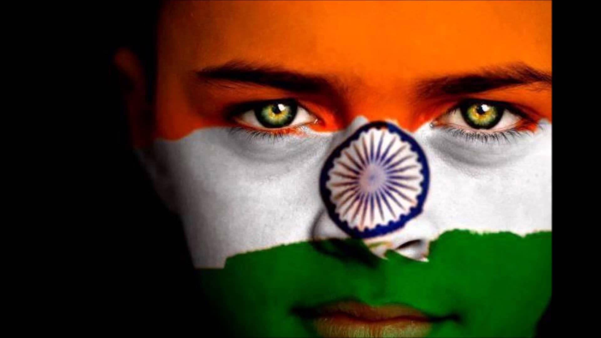 Indian Flag Face Paint