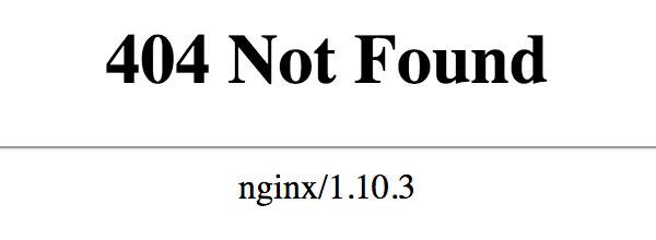 NGINX - 404 Not Found