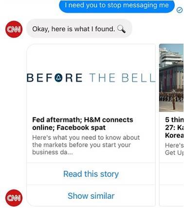 CNN ChatBot: Unsubscribe