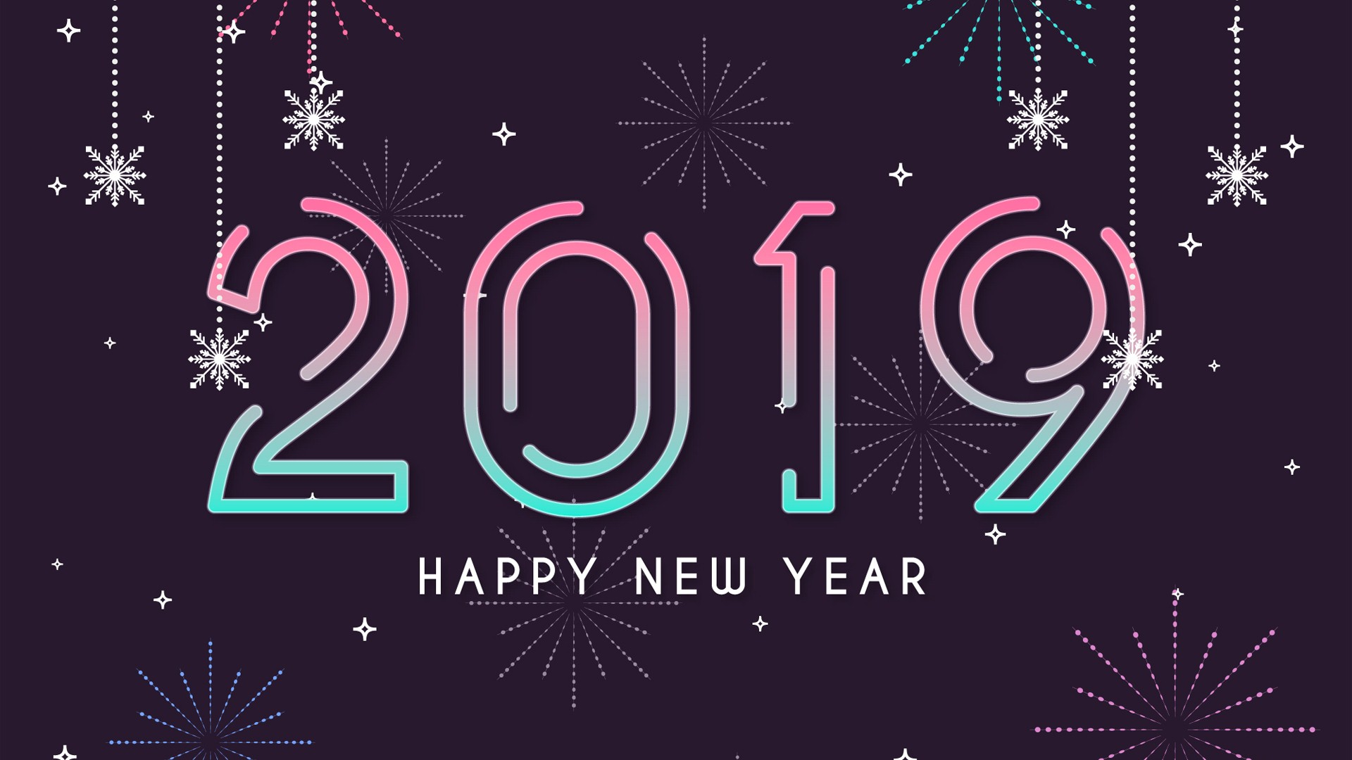 2019 Happy new Year HD Wallpaper