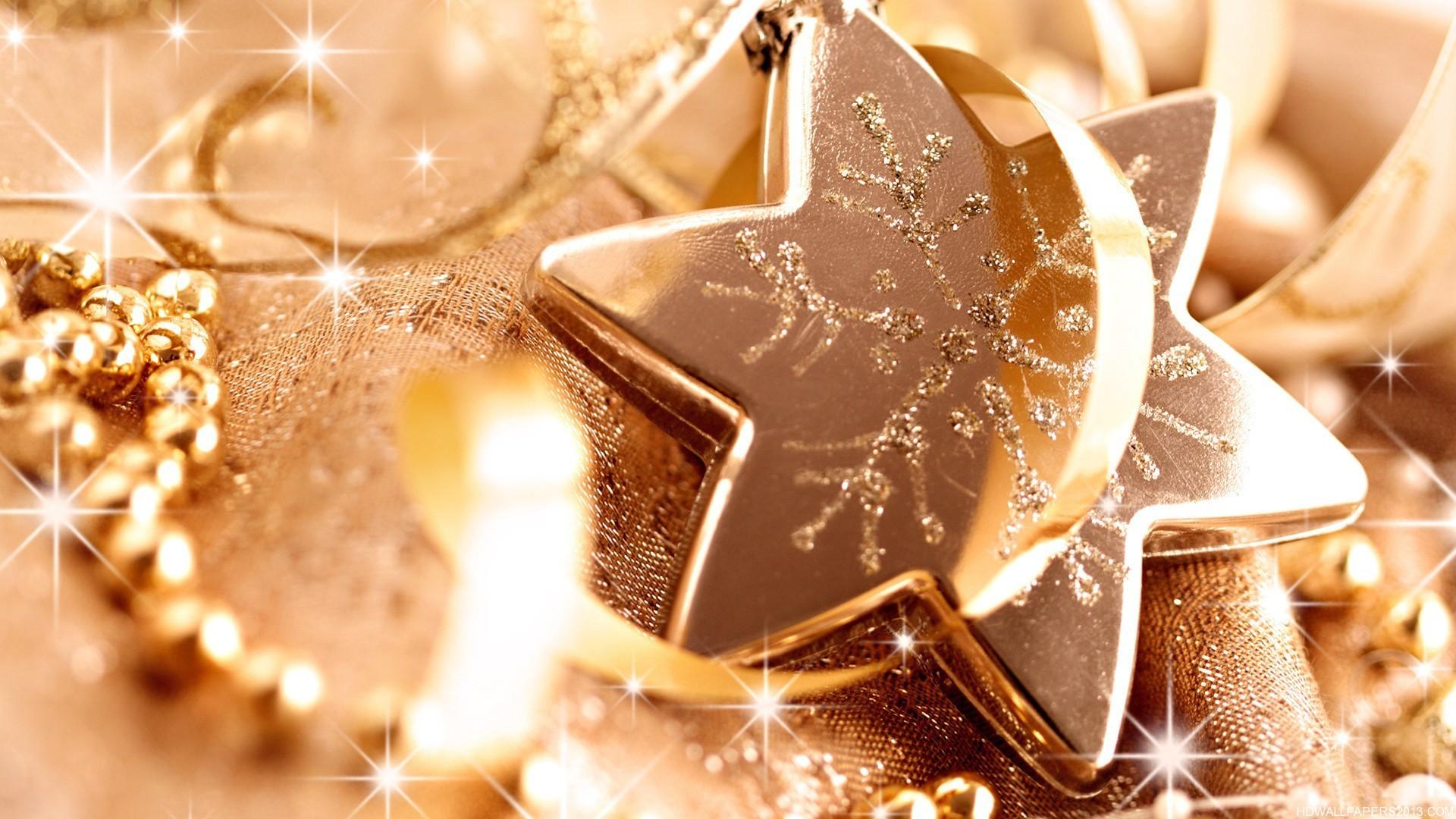 Glittery Christmas Star Wallpaper