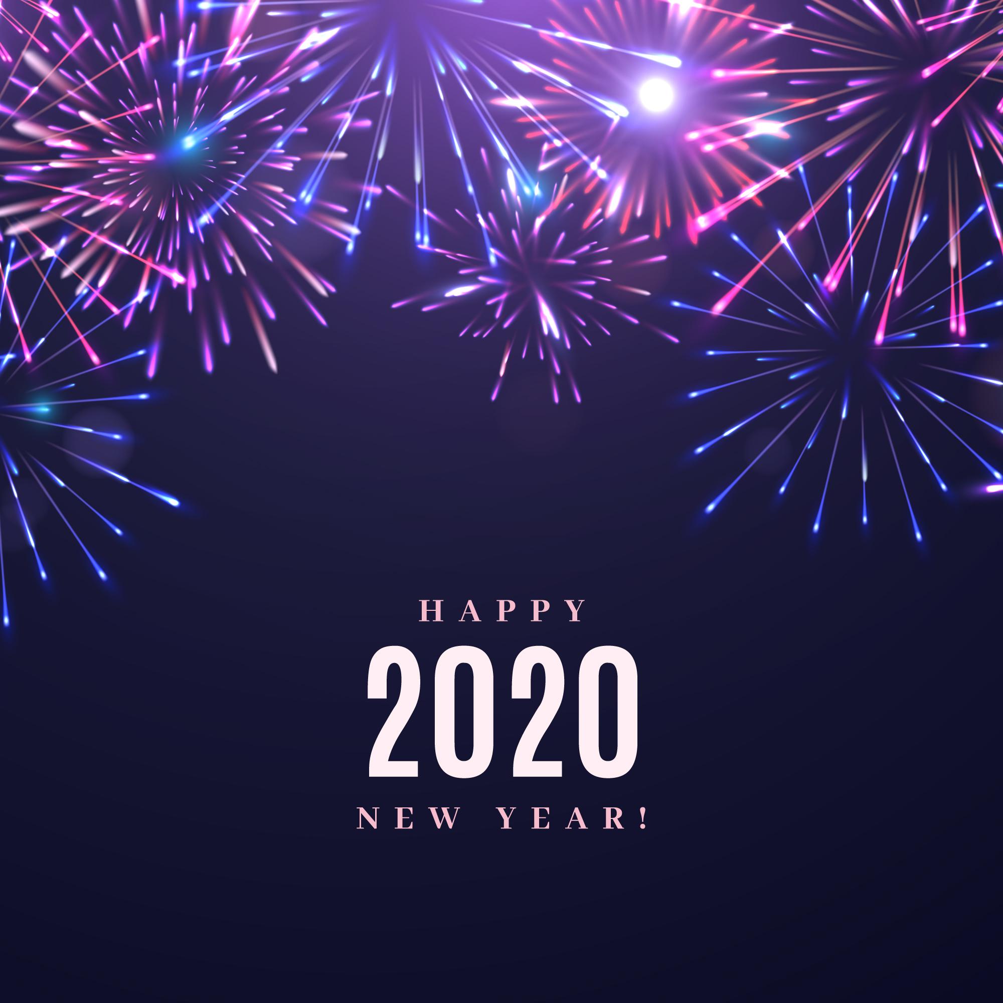 Fireworks New Year 2020 Card