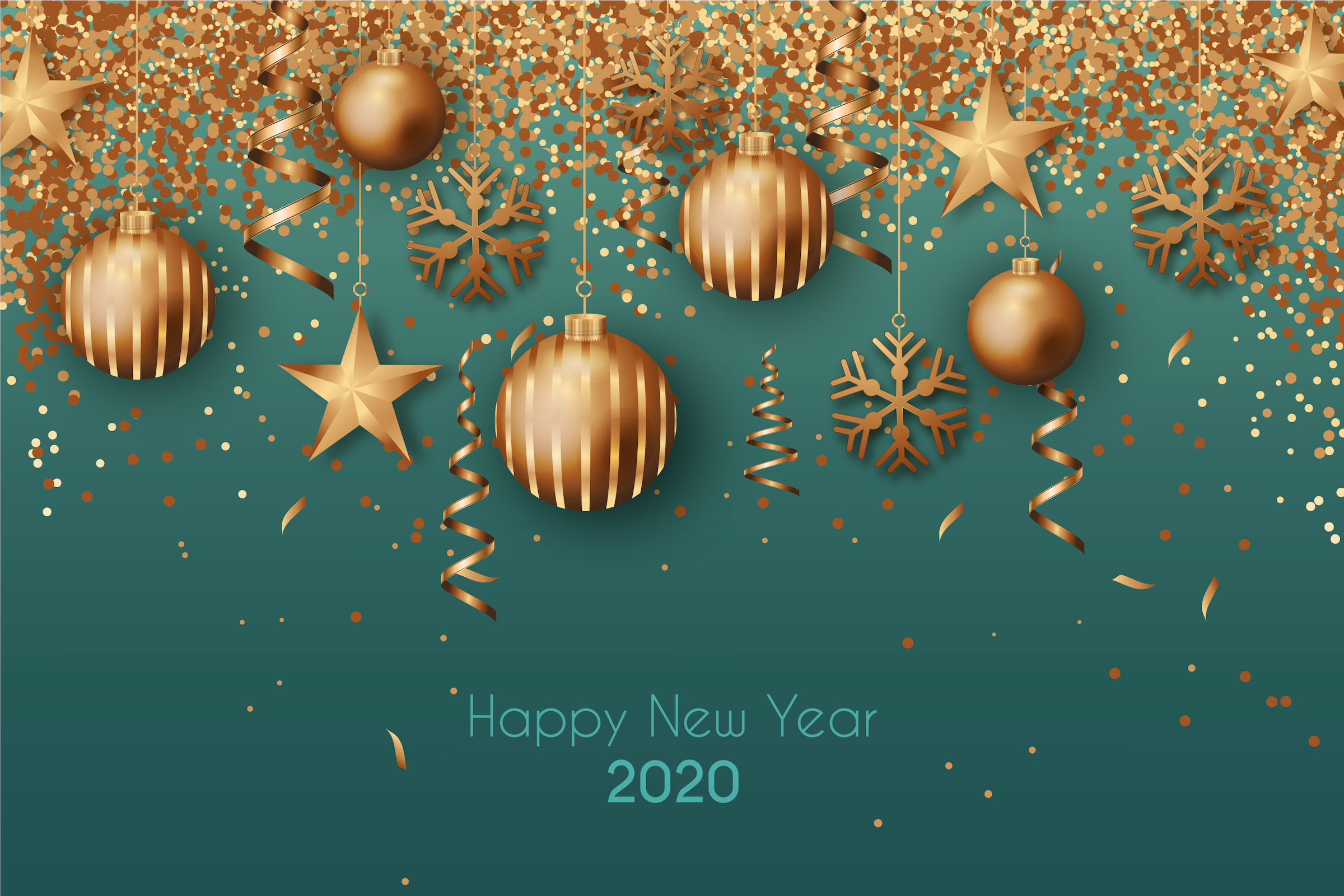 Happy New Year 2020 Green