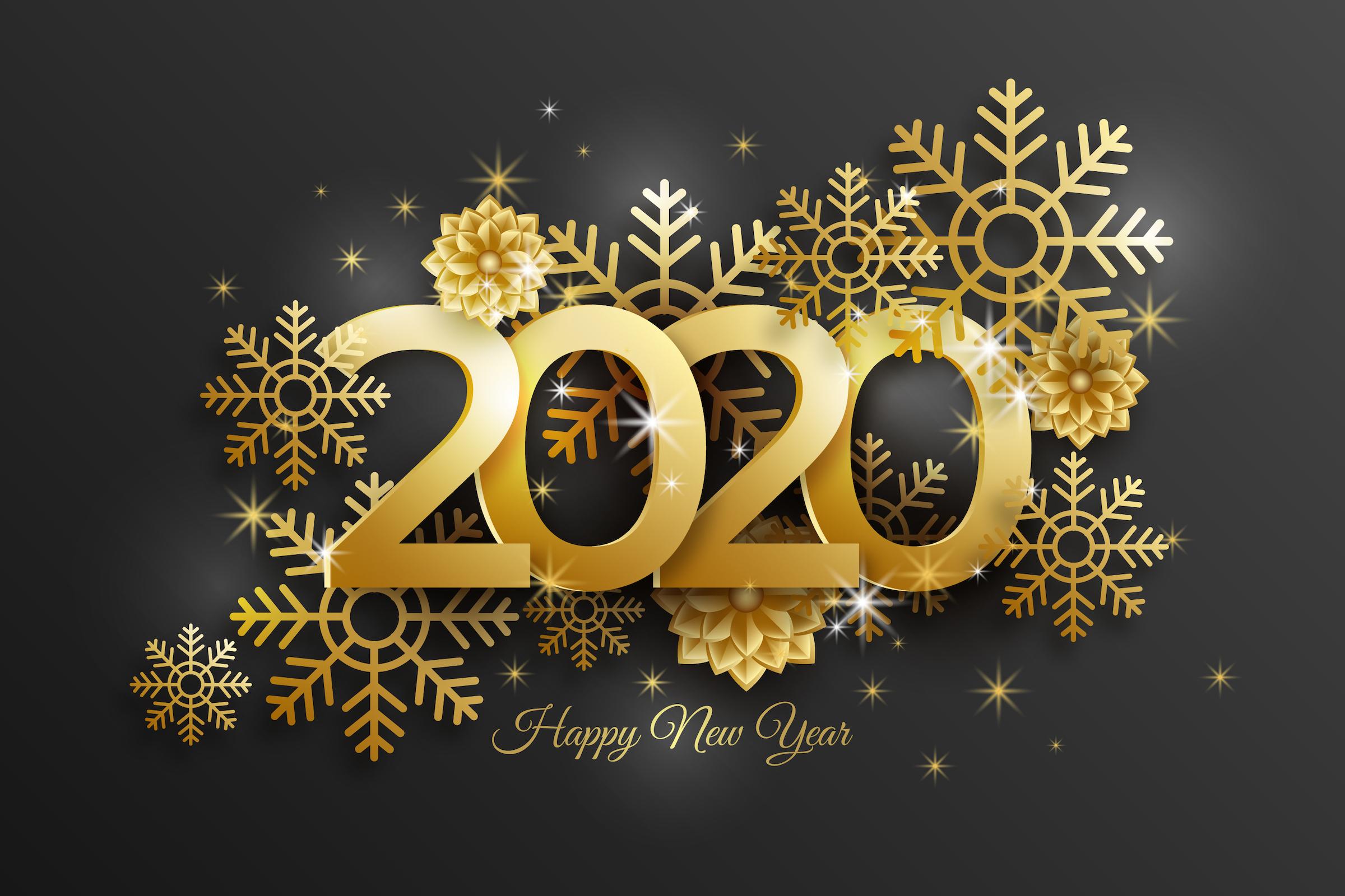 Happy New Year 2020 Royal Black