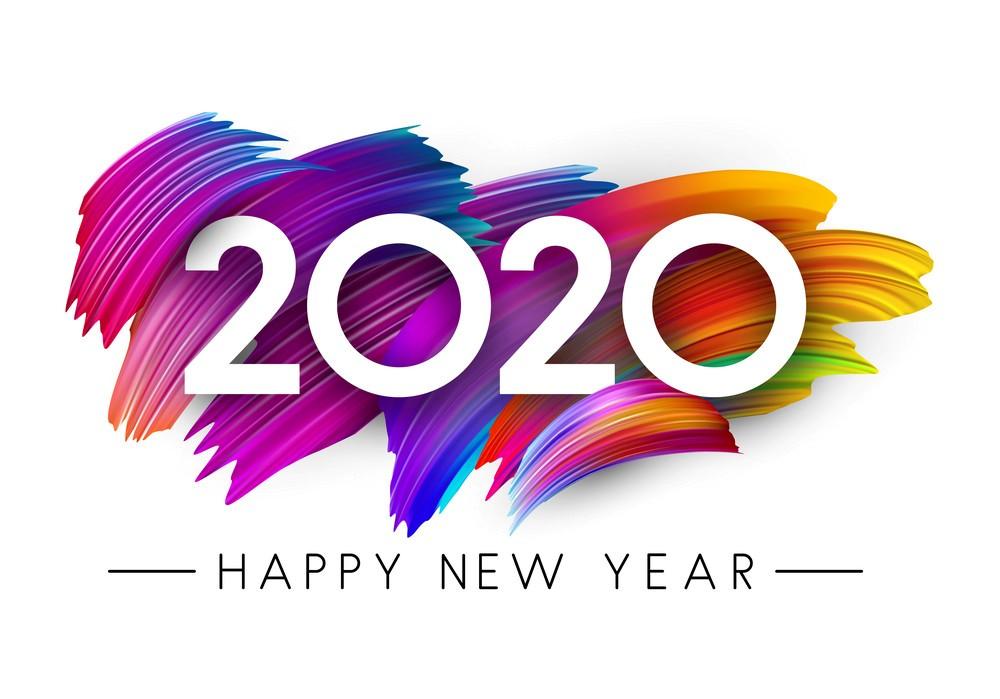 Happy New Year 2020 White