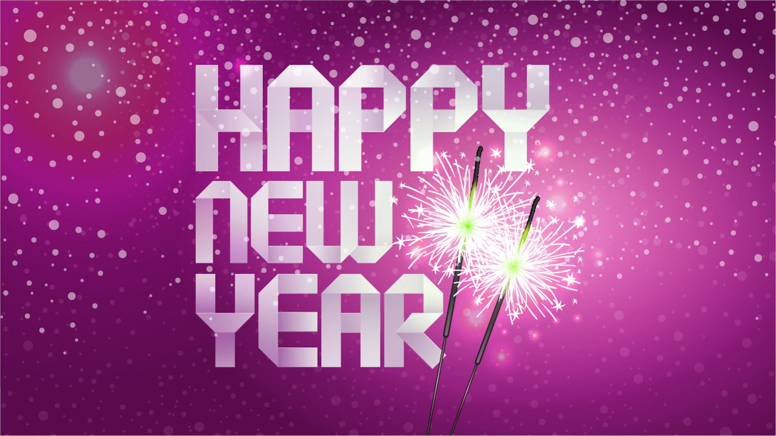 Happy New Year Pink Wide