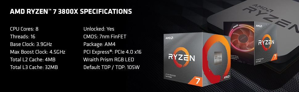 AMD Ryzen 7 3800X - Specs