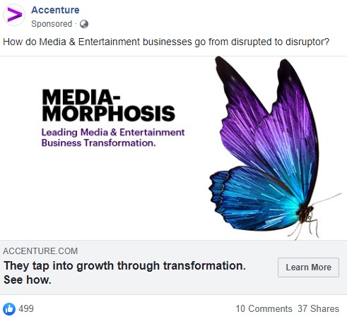 Facebook ad from Accenture
