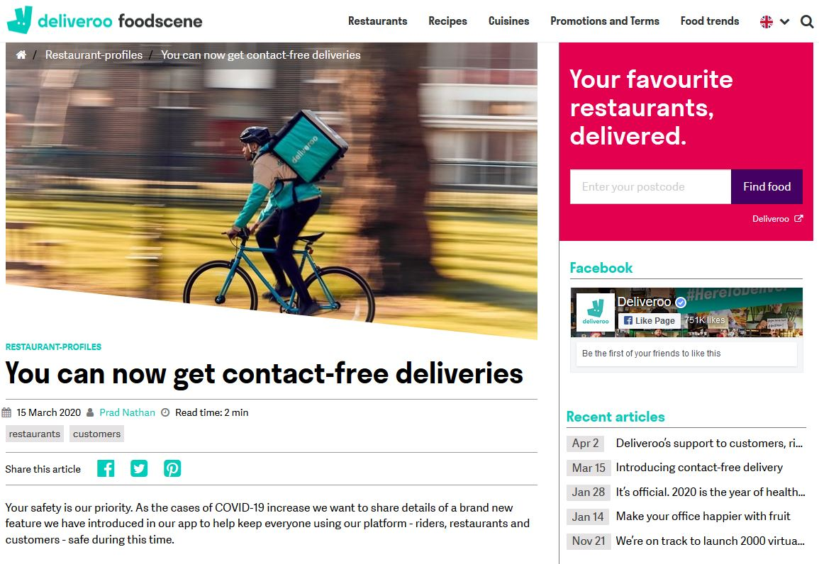 Deliveroo Foodscene